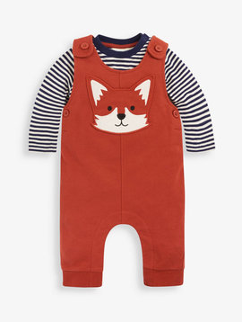 JoJo Maman Bebe Fox Dungaree Set