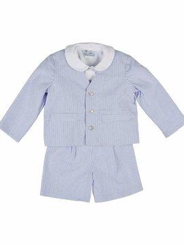 Florence Eiseman Seersucker Short Eton Suit