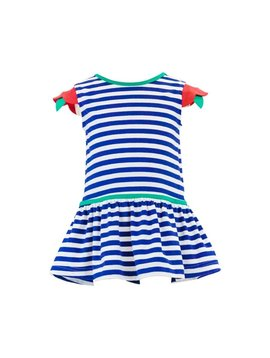 Florence Eiseman Stripe Dress w Flower Sleeves