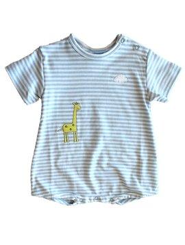 Florence Eiseman Blue Stripe Giraffe Bubble