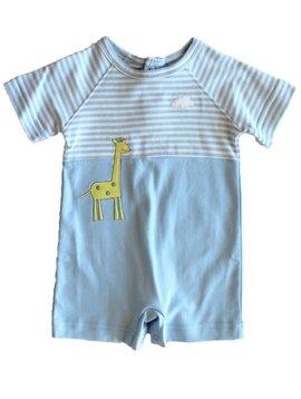 Florence Eiseman Blue Stripe Giraffe Shortall
