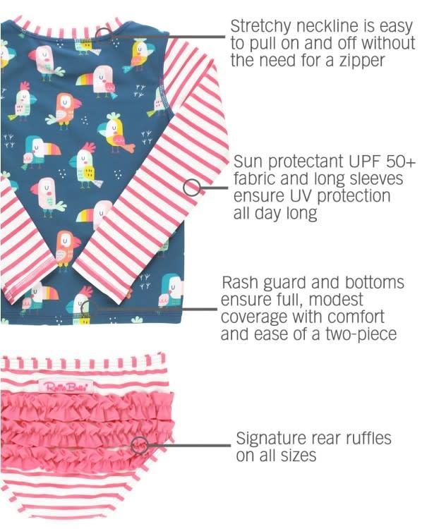Ruffle Butts You're the Tweetest Rash Bikini