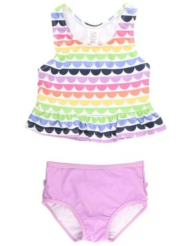 Ruffle Butts Rainbow Scallop Peplum Tankini