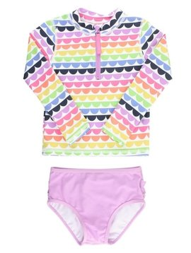 Ruffle Butts Rainbow Scallop Rash Bikini