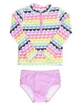 Ruffle Butts Rainbow Scallop Rash Bikini