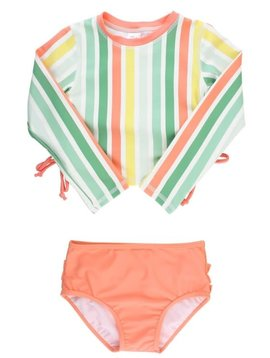 Ruffle Butts Saltwater Stripe Rash Bikini