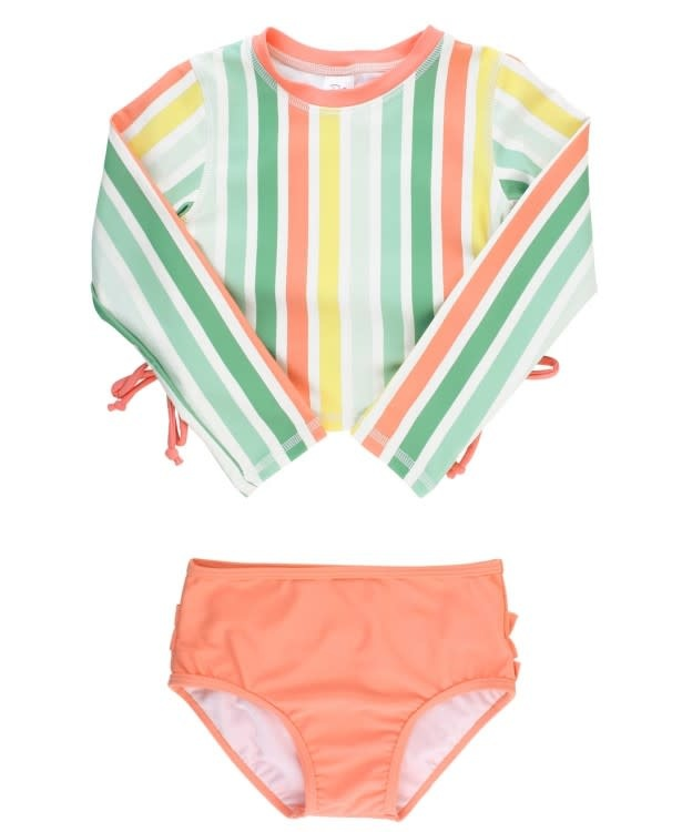 Ruffle Butts Saltwater Stripe Rash Bikini