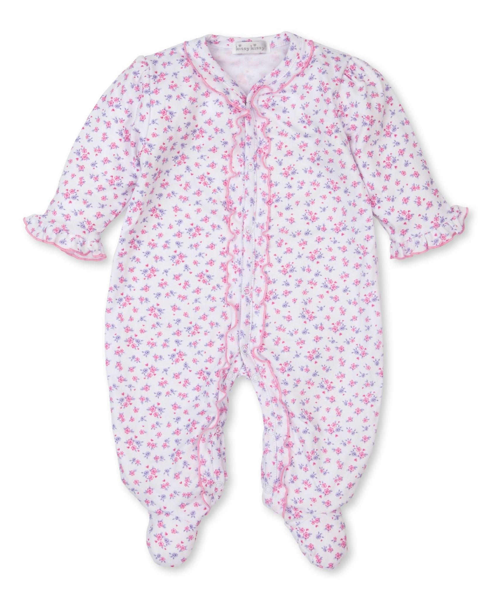 Kissy Kissy Castle  Couture Ruffle Footie