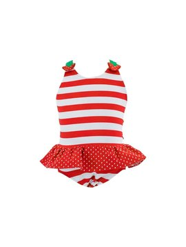 Florence Eiseman Strawberry Stripe Swimsuit