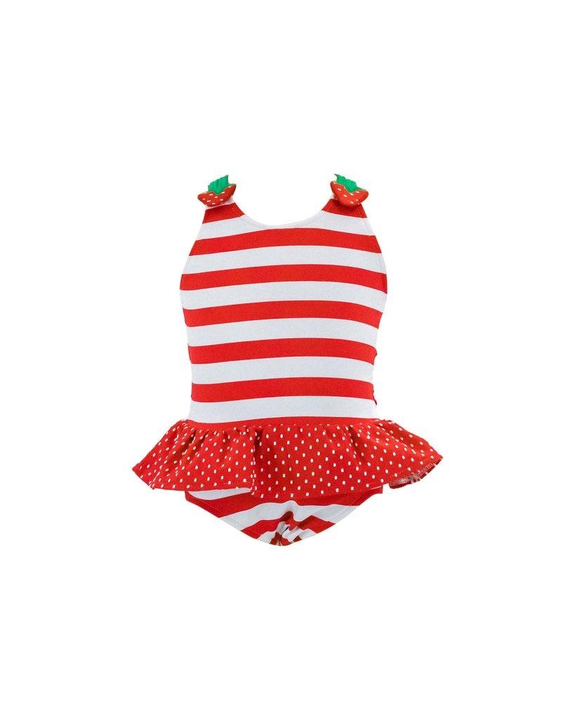 Florence Eiseman Strawberry Stripe Swimsuit