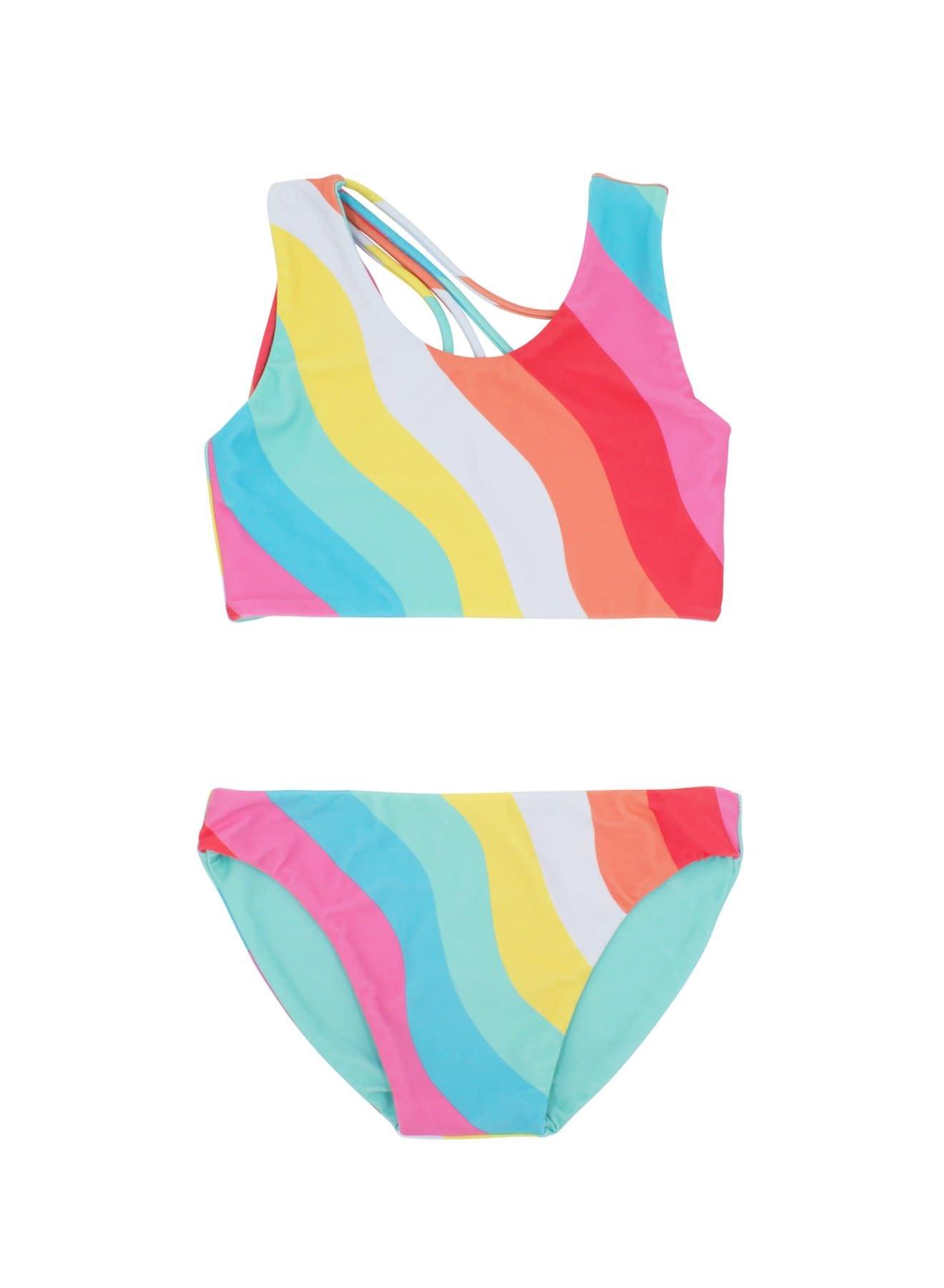 Feather 4 Arrow Tropical Reversible Bikini