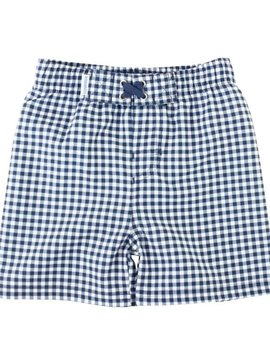 Ruffle Butts Navy Gingham Trunks