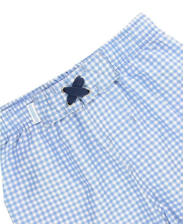 Ruffle Butts Cornflower Gingham Trunks
