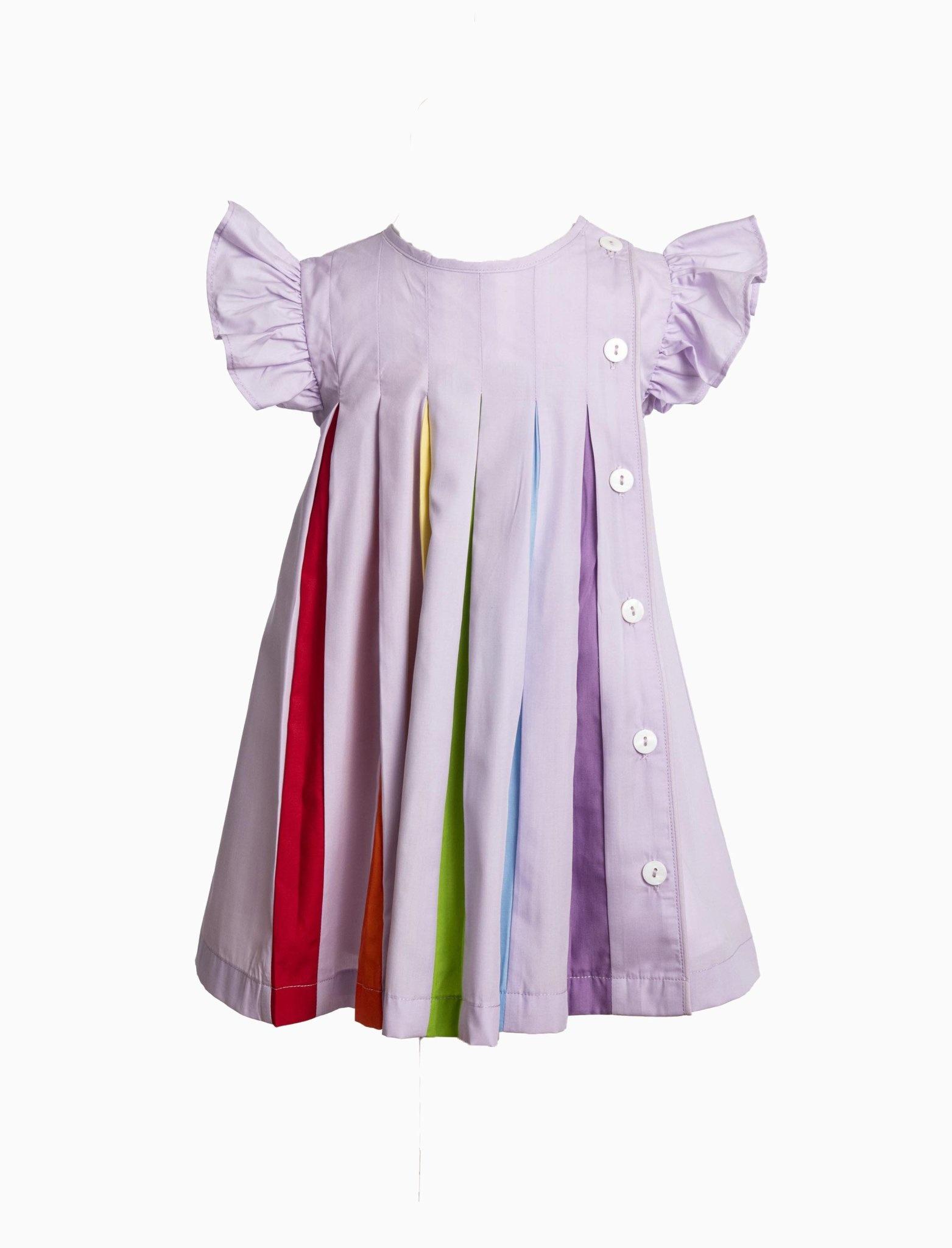 The Yellow Lamb Lavender Rainbow Dress