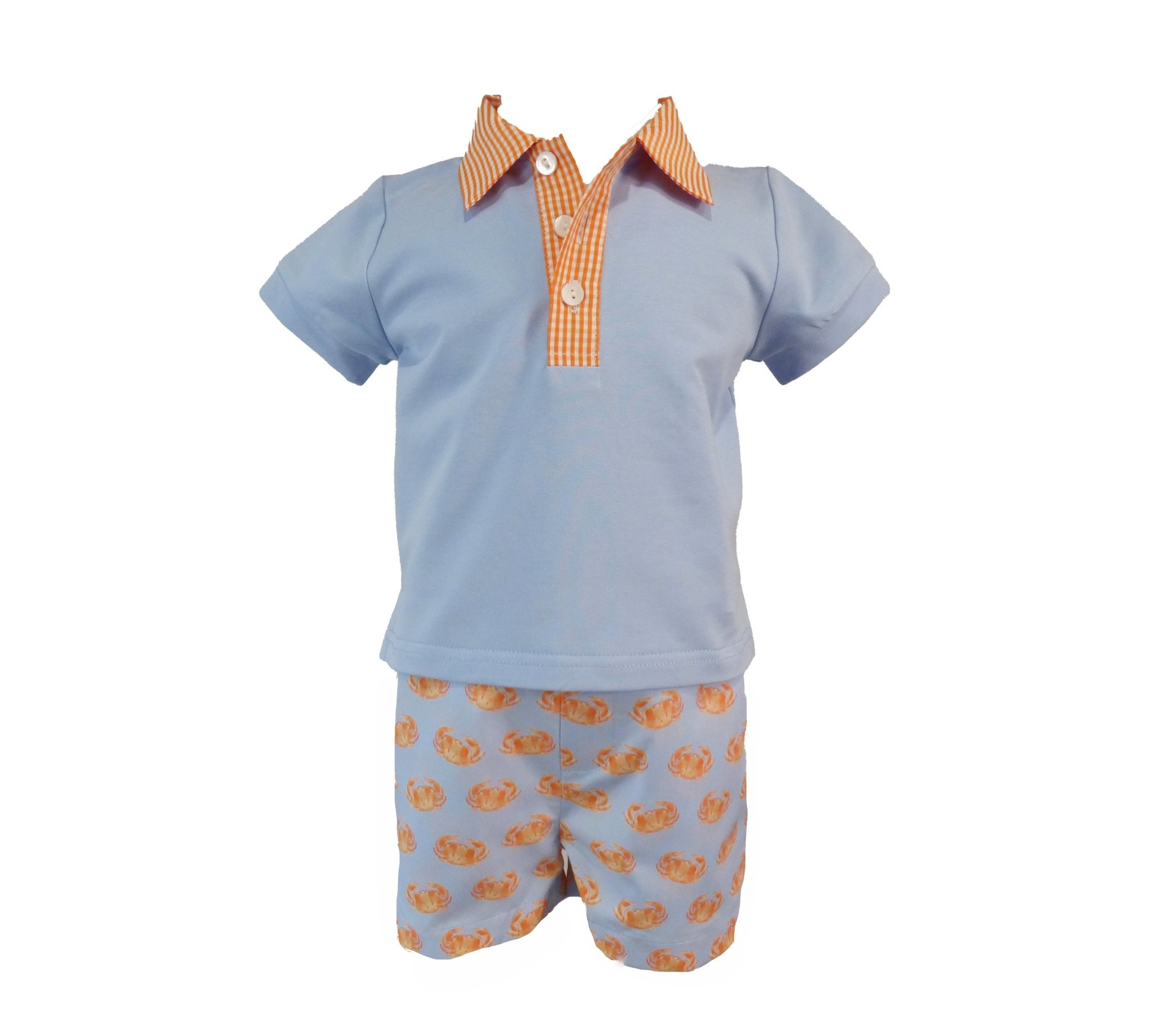 The Yellow Lamb Alexander Shirt and Shorts w Crabs