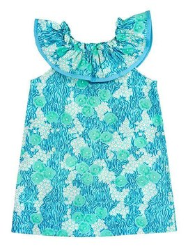 Bailey Boys Turquoise Print Kiki Dress