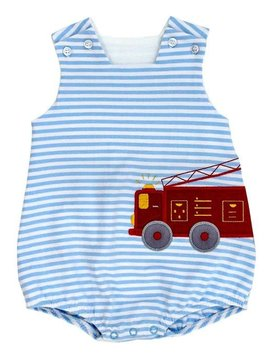 Bailey Boys Firetruck Knit Bubble