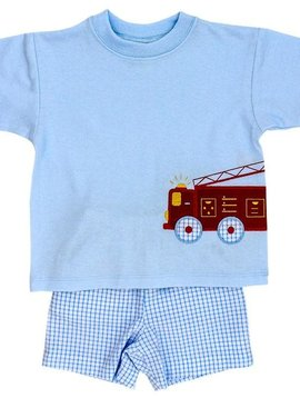 Bailey Boys Firetruck Short Set