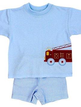 Bailey Boys Firetruck Short Set