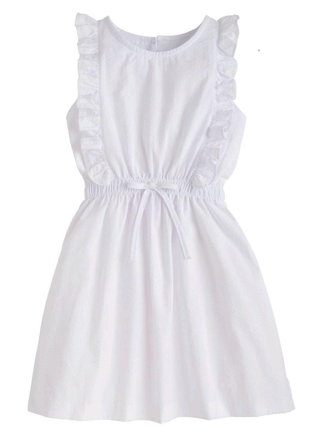 Little English White Seersucker Louise Dress