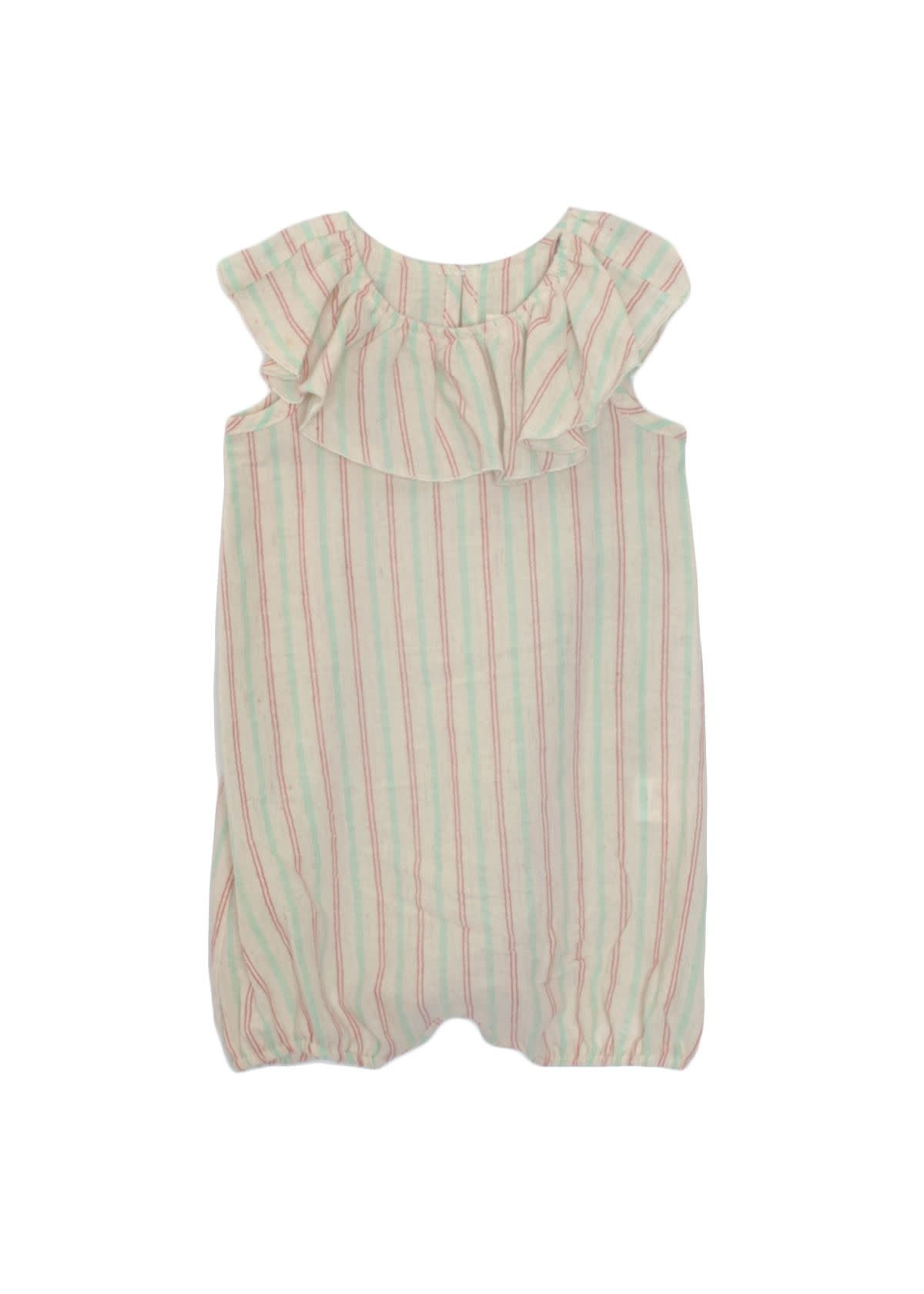 Mabel and Honey Woven Striped Romper
