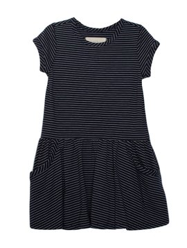 Mabel and Honey Blue Knit Drop Waist Dress