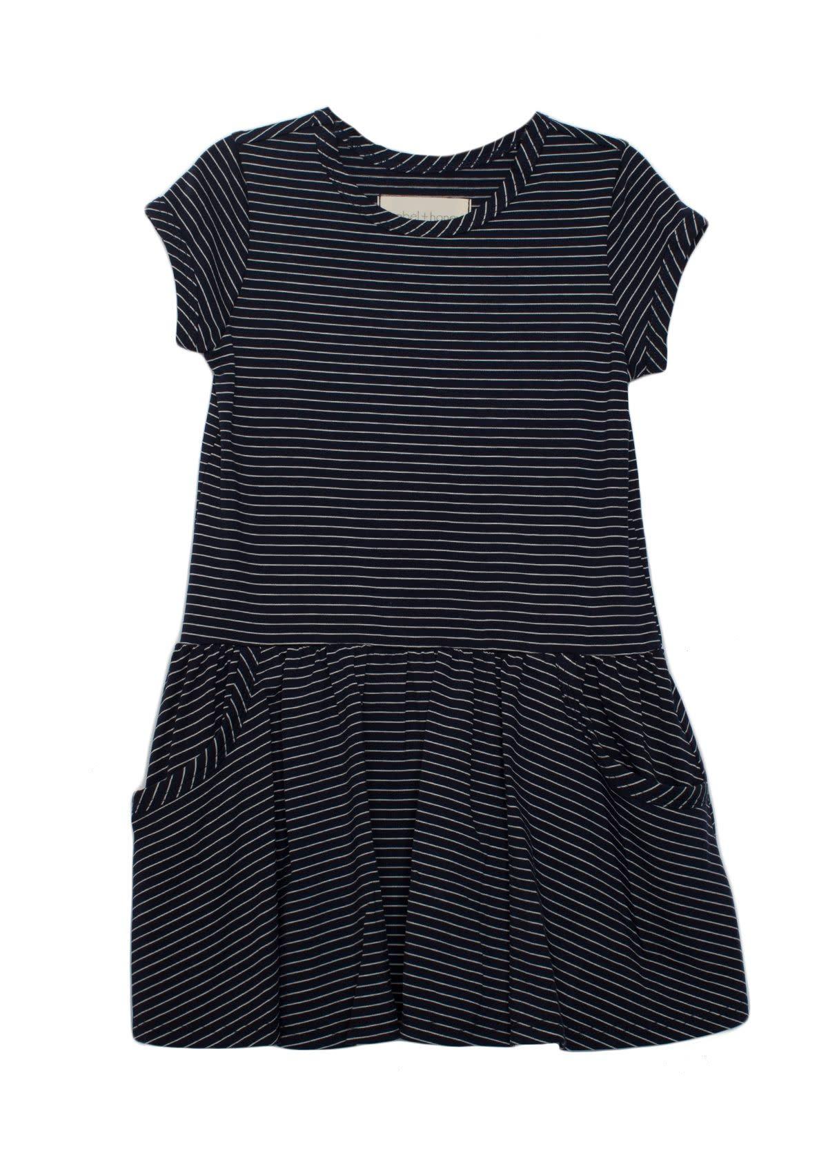 Mabel and Honey Blue Knit Drop Waist Dress