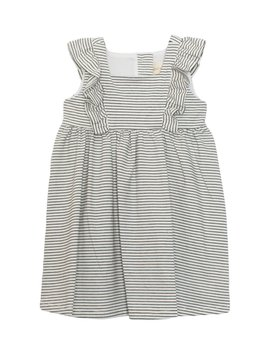 Mabel and Honey Black/White Stripe Knit Dress