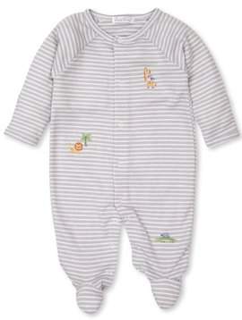 Kissy Kissy Silver Stripe Safari Footie
