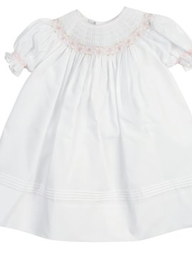 Feltman Brothers White Ruffle Sleeve Bishop Dress