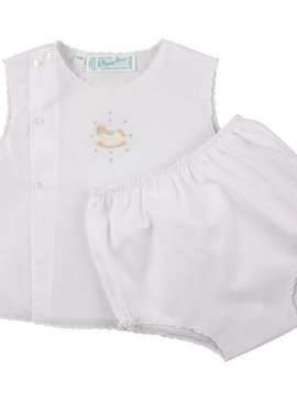 Feltman Brothers White Rocking Horse Diaper Set