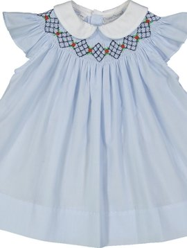Feltman Brothers Argyle Smocked Bishop Dress