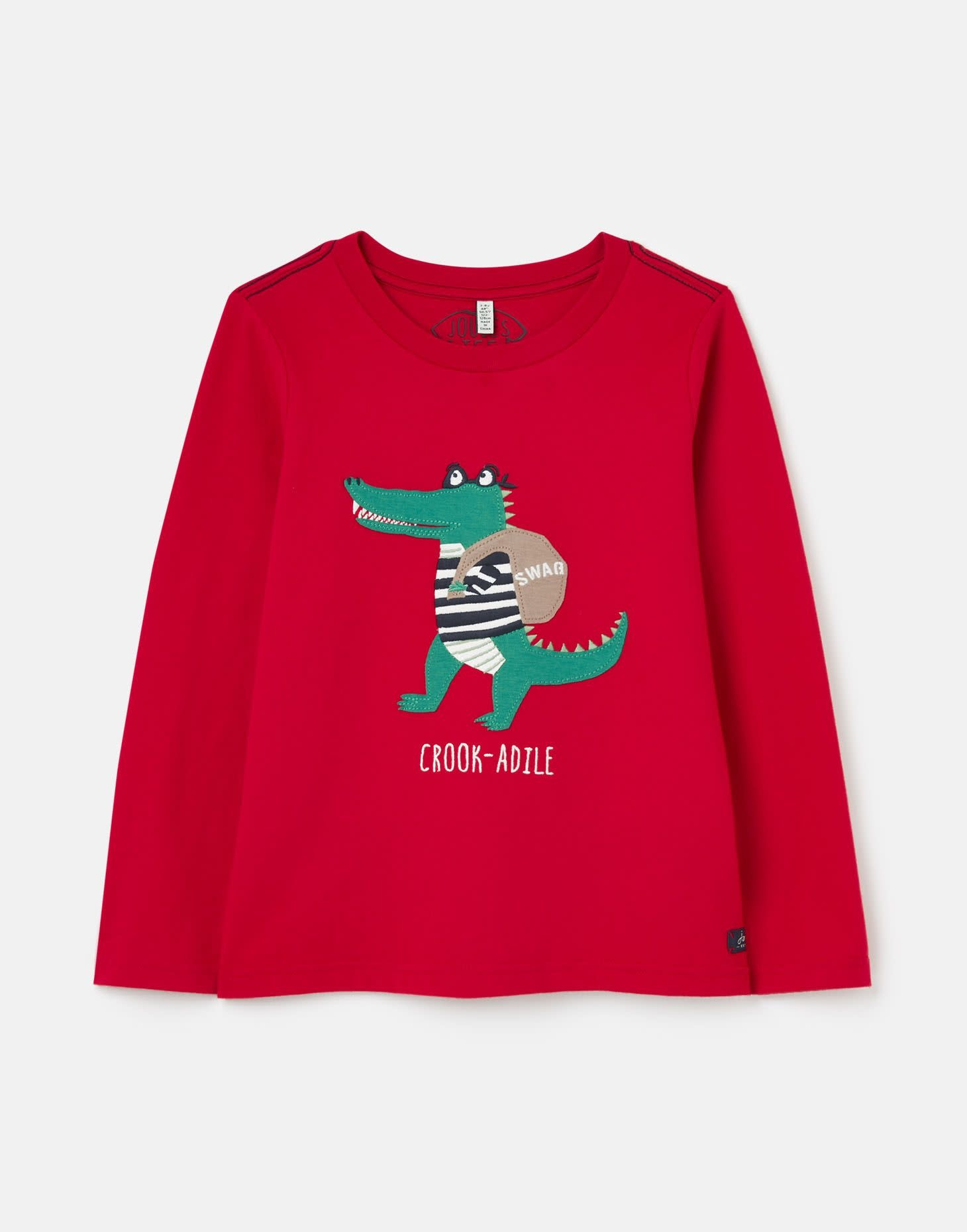Joules Red Crookadile Applique T-Shirt
