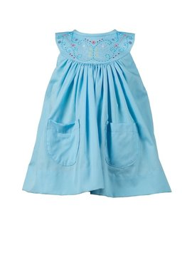 the proper peony Estelle Aqua Dress