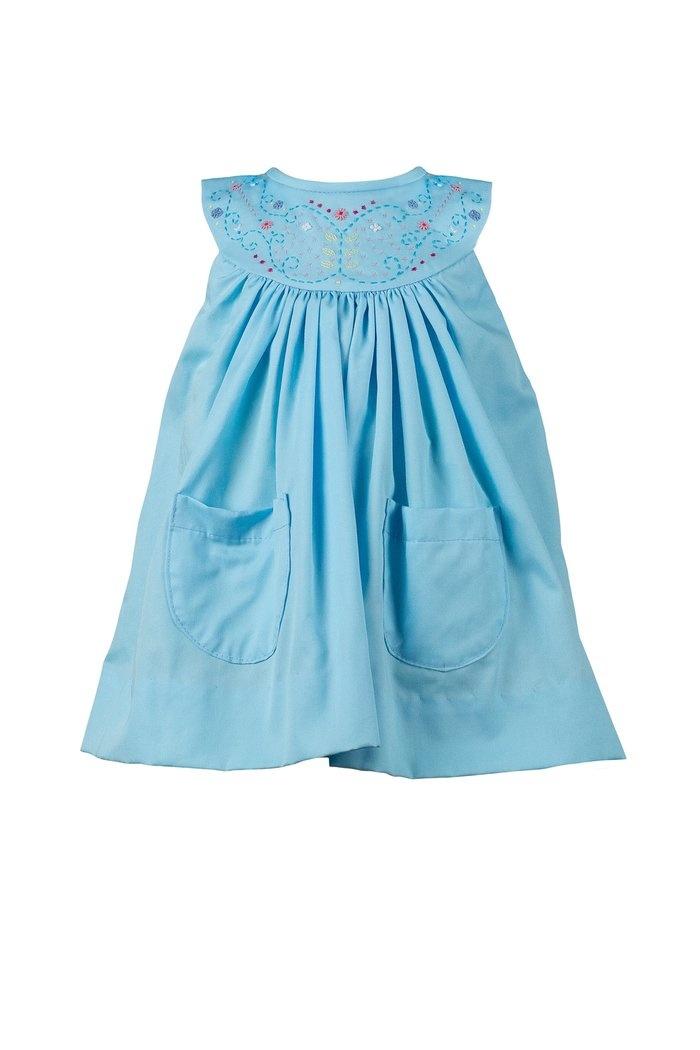 the proper peony Estelle Aqua Dress