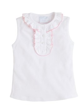 Little English Pink Ruffled Henley