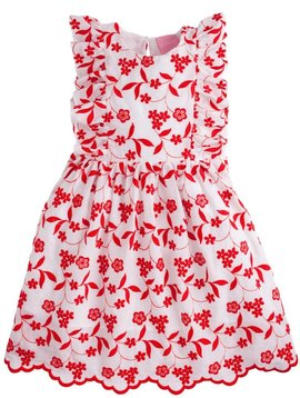 Bisby Red Embroidered Diana Dress