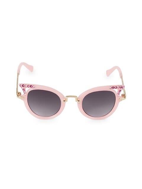 Bari Lynn Crystal Cat Eye Sunglasses
