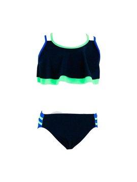 Florence Eiseman Color Block Flutter Bikini