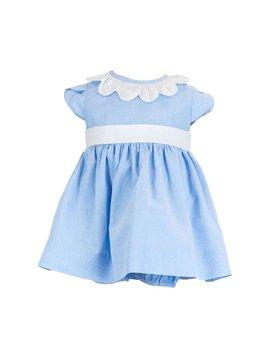 Florence Eiseman Blue Dot Petal Dress