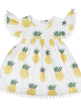 Mila & Rose Pineapple Pom Pom Dress