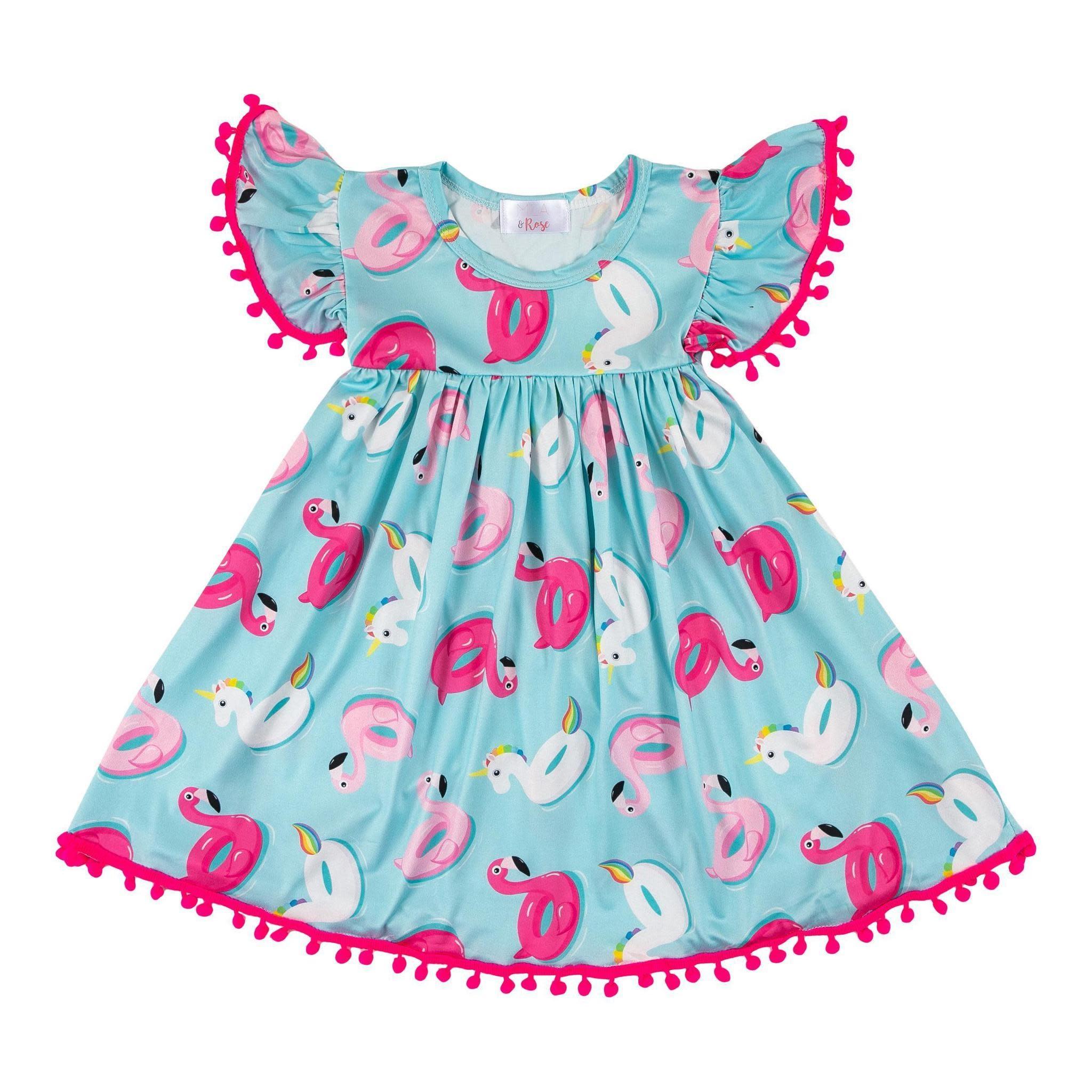 Mila & Rose Pool Party Pom Pom Dress