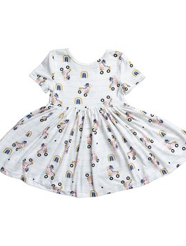 Mila & Rose Rollin Rainbow Twirl Dress