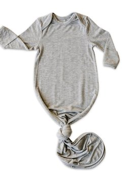 Little Sleepies Gray Bamboo Knotted Gown