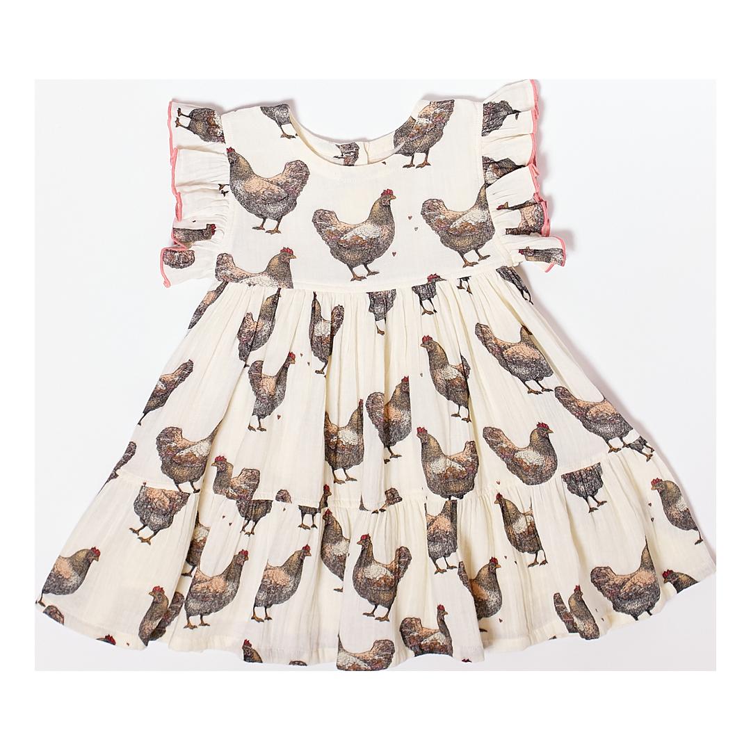 Pink Chicken Chickens Kit Dress