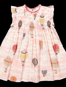 Pink Chicken Hot Air Balloons Stevie Dress