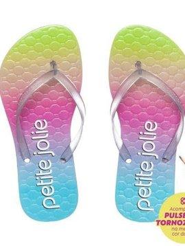 Petite Jolie Rainbow Translucent Flip Flop