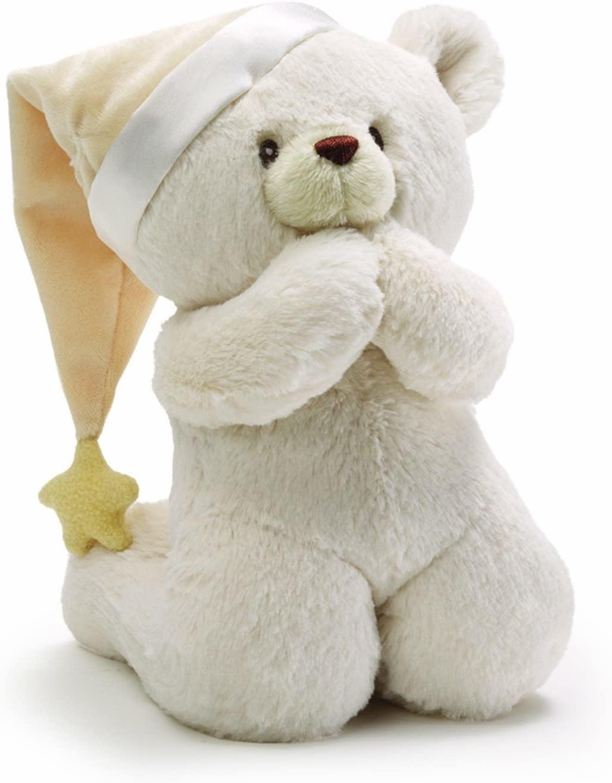 """Gund Prayer Bear Sound Toy 8"""""""