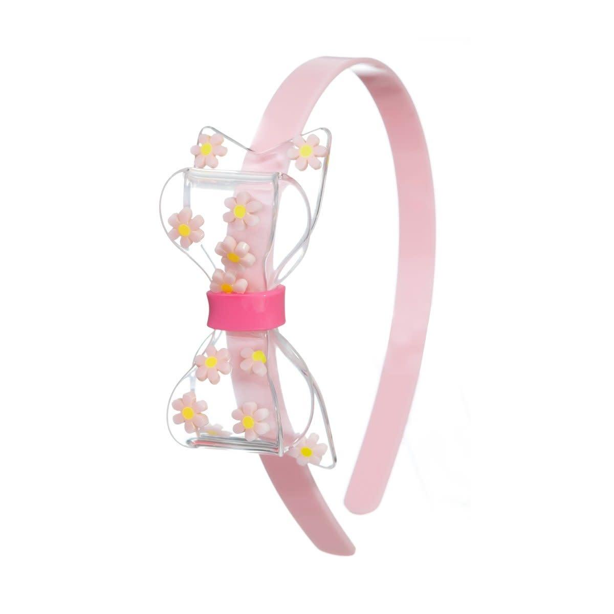 lilies&roses Pink Daisy Bow Headband