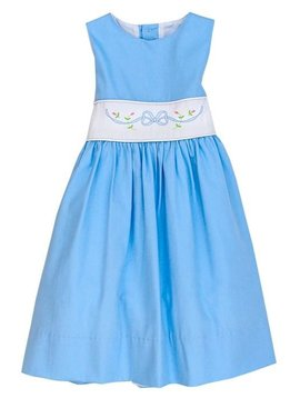Bailey Boys Blue Bonnet Dress